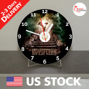 0012_Led Zeppelin CD_Clock by Queen Clocks_