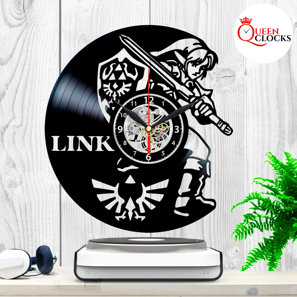The Legend Of Zelda Link Vinyl Record Large Wall Clock