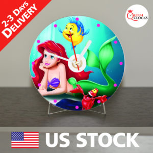0058_The Little Mermaid CD_Clock by Queen Clocks_