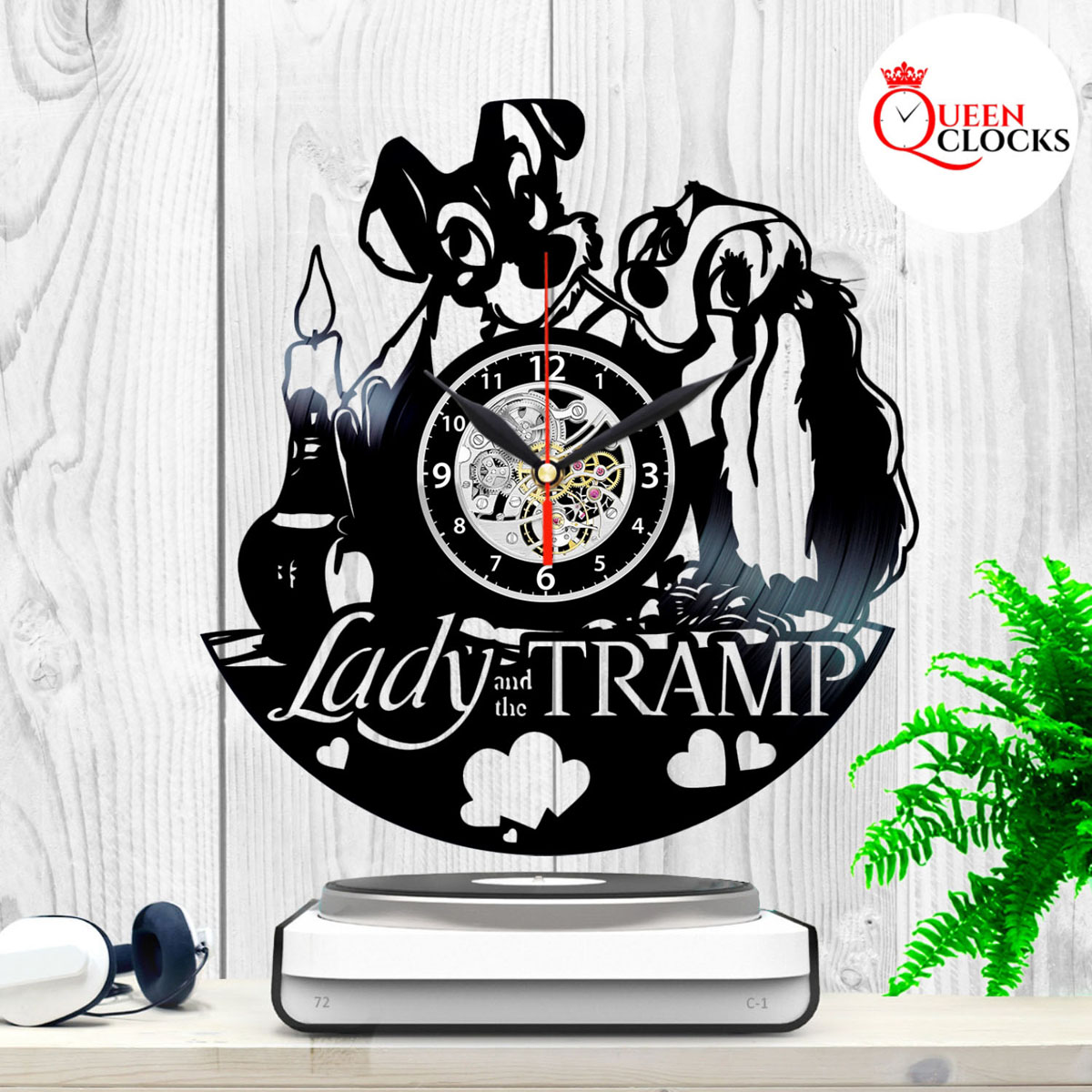 Home Design Gift Ideas: Lady And The Tramp Walt Disney Home Decor Vinyl Record