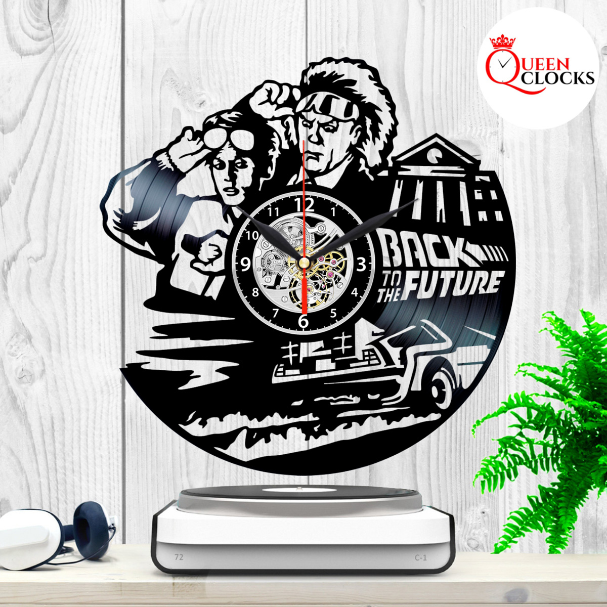 Back To The Future Movie Trilogy Lp Vinyl Record Wall