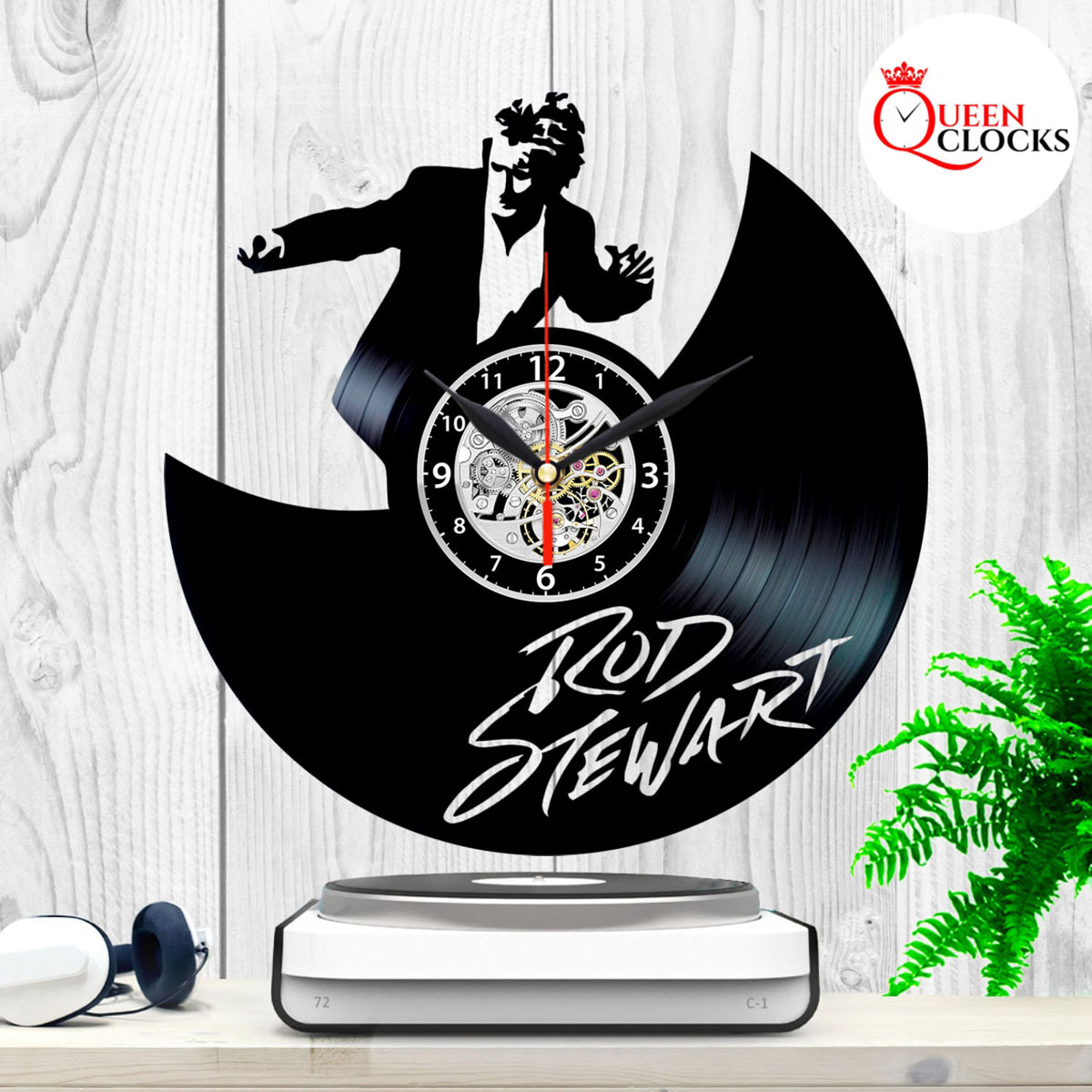 Rod Stewart Vinyl Record Wall Clock Collection Autograph
