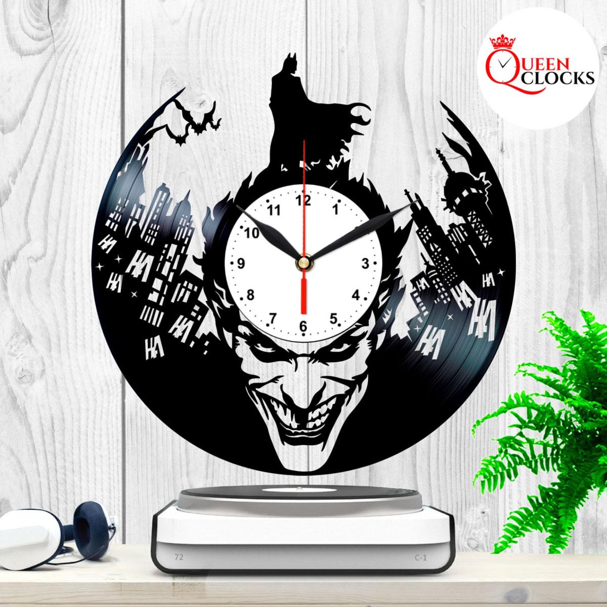 Joker Batman Vinyl Record Wall Clock Arkham Asylum Knight