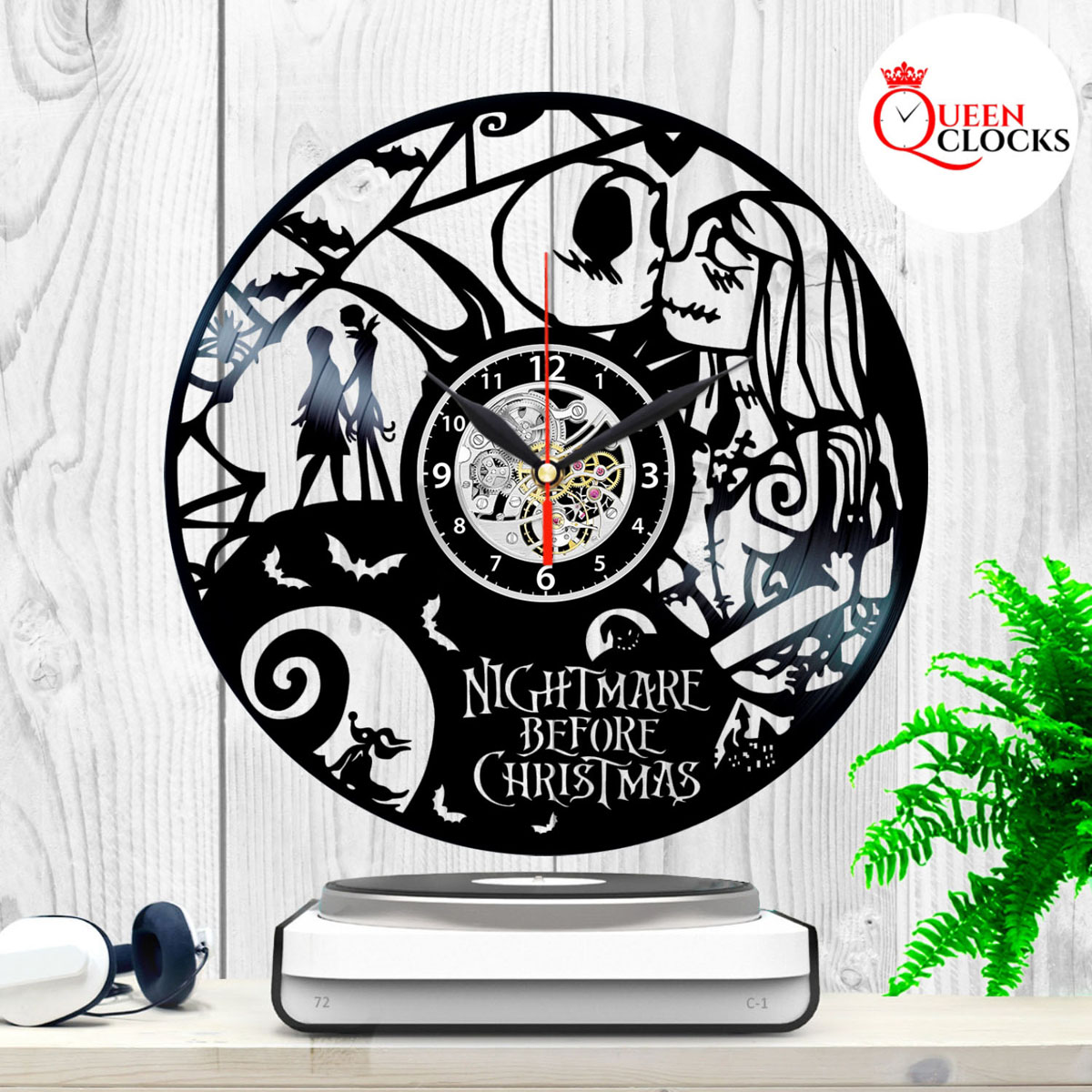 The Nightmare Before Christmas Jack Skellington Sally Vinyl Record ...