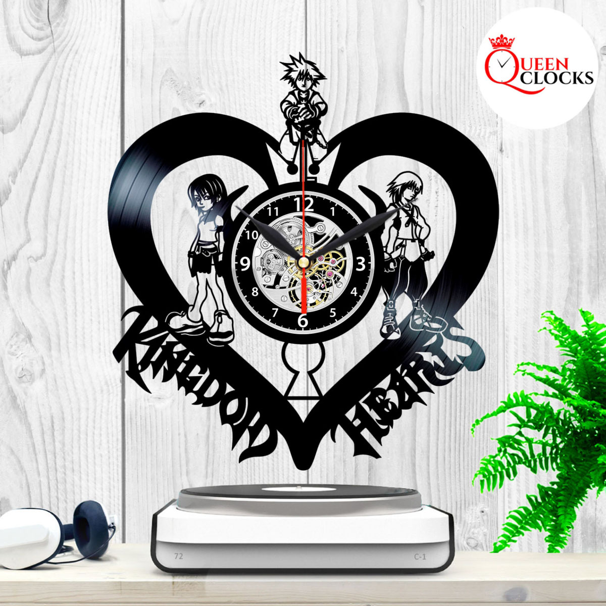 Disney Kingdom Hearts Sign Sora Vinyl Record Wall Clock Kids Decor