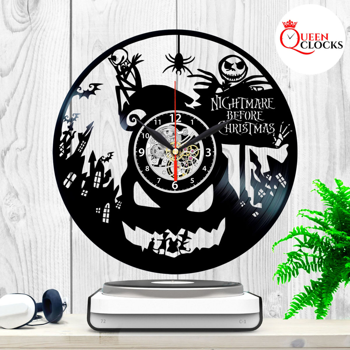 Jack Skellington Nightmare Before Christmas Vinyl Record Wall Clock ...
