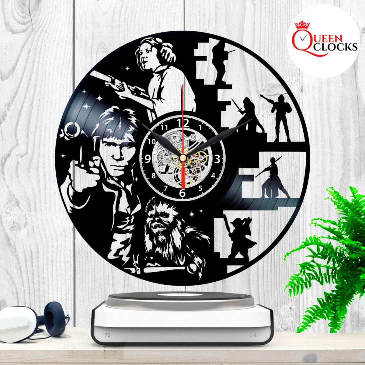 Star Wars Death Star Han Solo Leia Vinyl Record Wall Clock Best Gift Home Decor