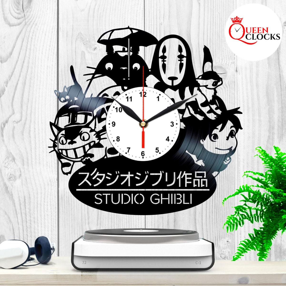 Studio Ghibli Totoro Spirited Away Hayao Miyazaki Vinyl Record Wall Clock Gift Ebay