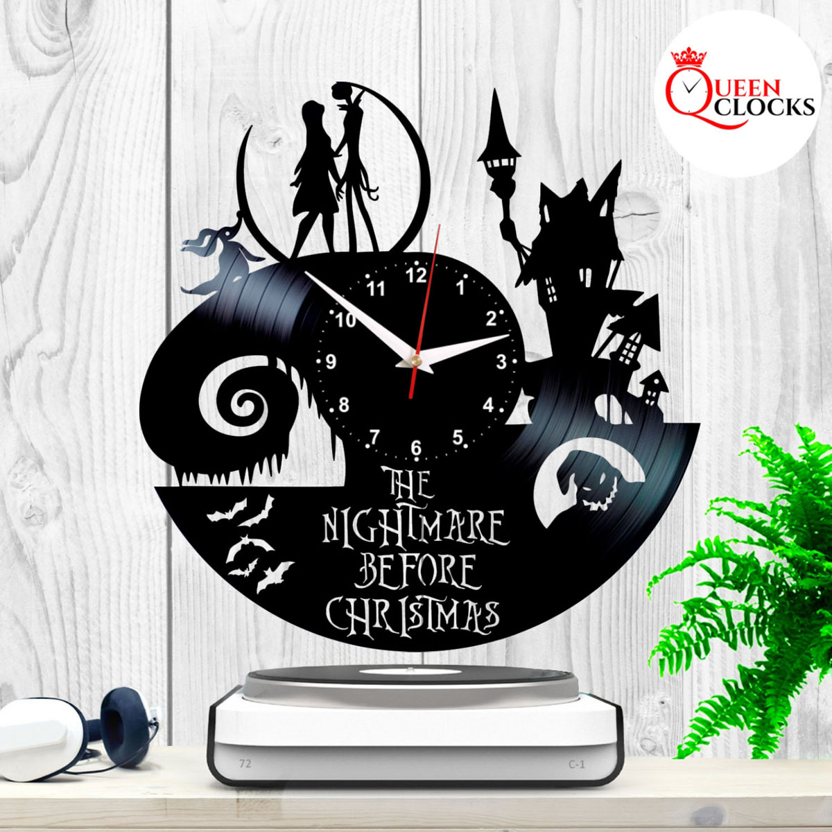 Jack Skellington Nightmare Before Christmas Vinyl Record Wall Clock ...