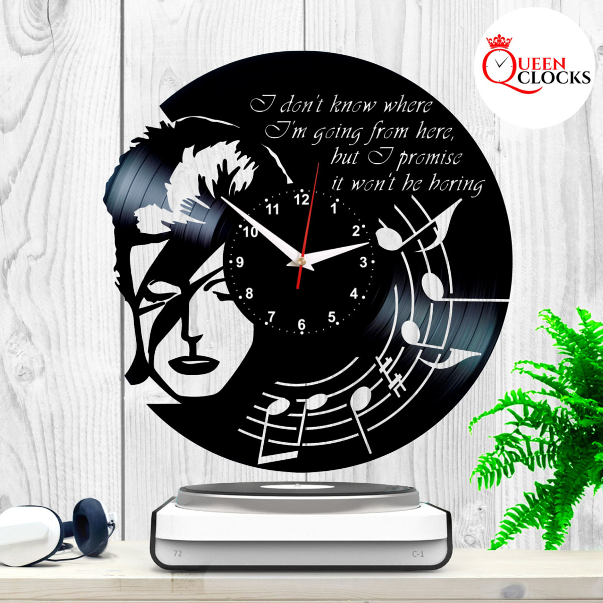 Vintage David Bowie Vinyl Clock Record Wall Decor Lp Art