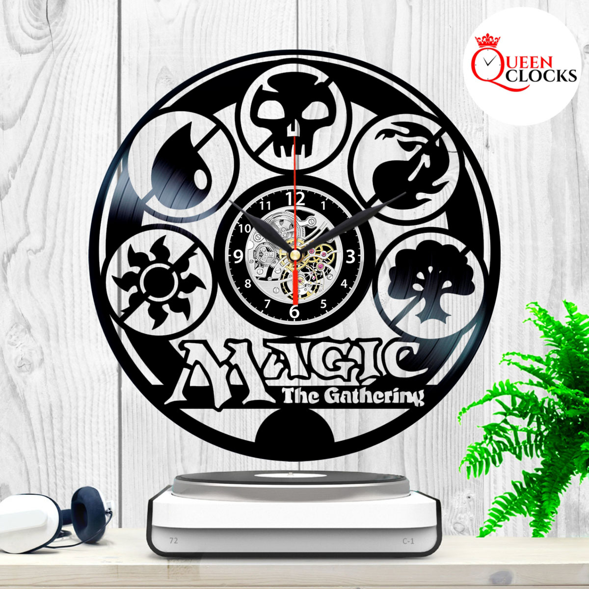 Magic The Gathering Clock Collectibles Vinyl Wall Art Room