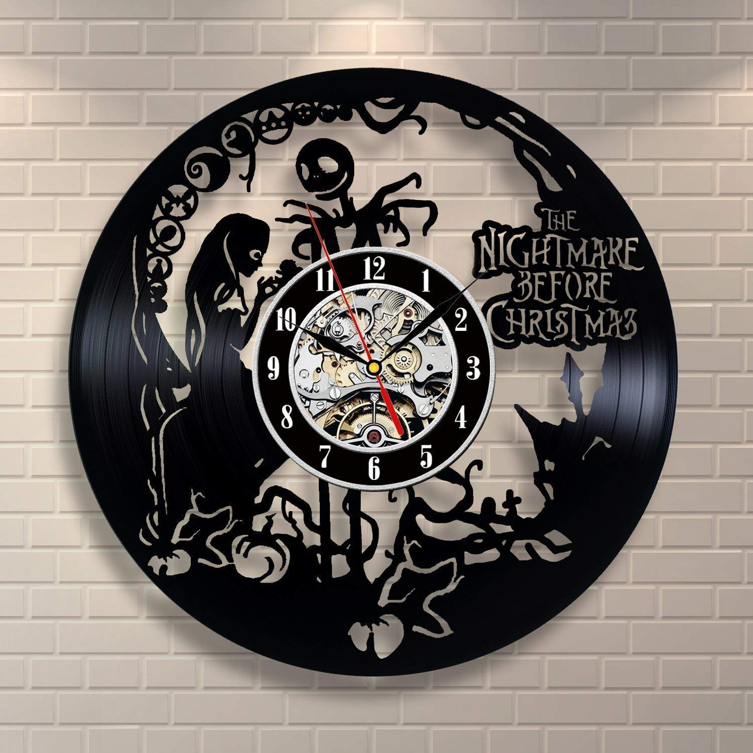 The-Nightmare-Before-Christmas-Vinyl-Record-Wall-Clock-Decorate-your ...